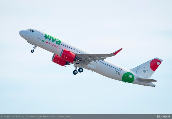 Primer A320neo de Viva Aerobus (Foto: Airbus)