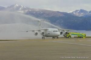 Vuelo inaugural de DAP entre Punta Arenas y Ushuaia - 09/11/2016 (Foto: Gonzalo Salas)