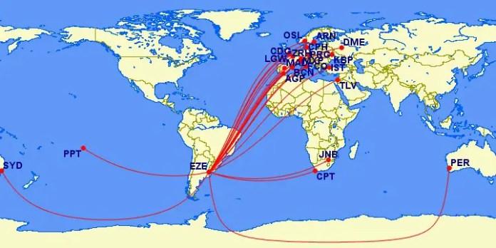 Norwegian Air Argentina - rutas internacionales desde Buenos Aires