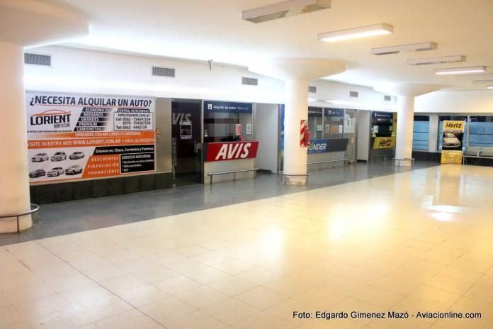 Aeropuerto Internacional Resistencia  - Empresas de alquiler de autos