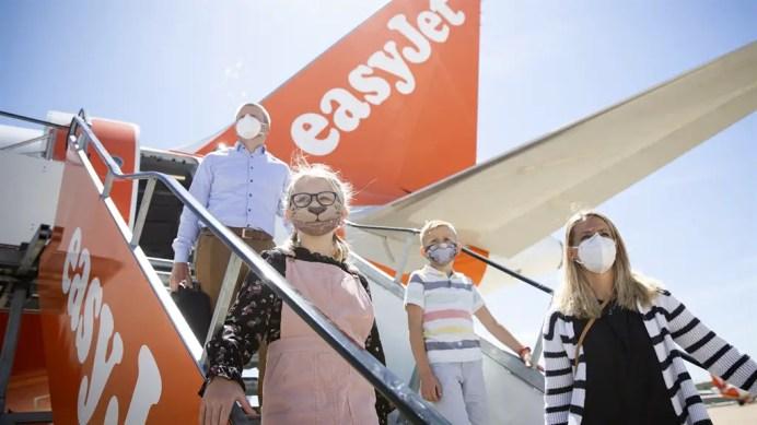 Desafío de EasyJet volar con protocolos sanitarios. Imagen: EasyJet