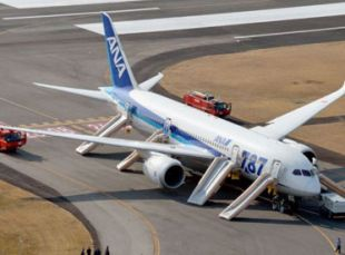 The Boeing 787 Dreamliner that made an emergency landing at Takamatsu airport in western Japan