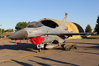 Visiting HAF F-16C Block 30 from the 330 Sq in Nea Anchialos AB