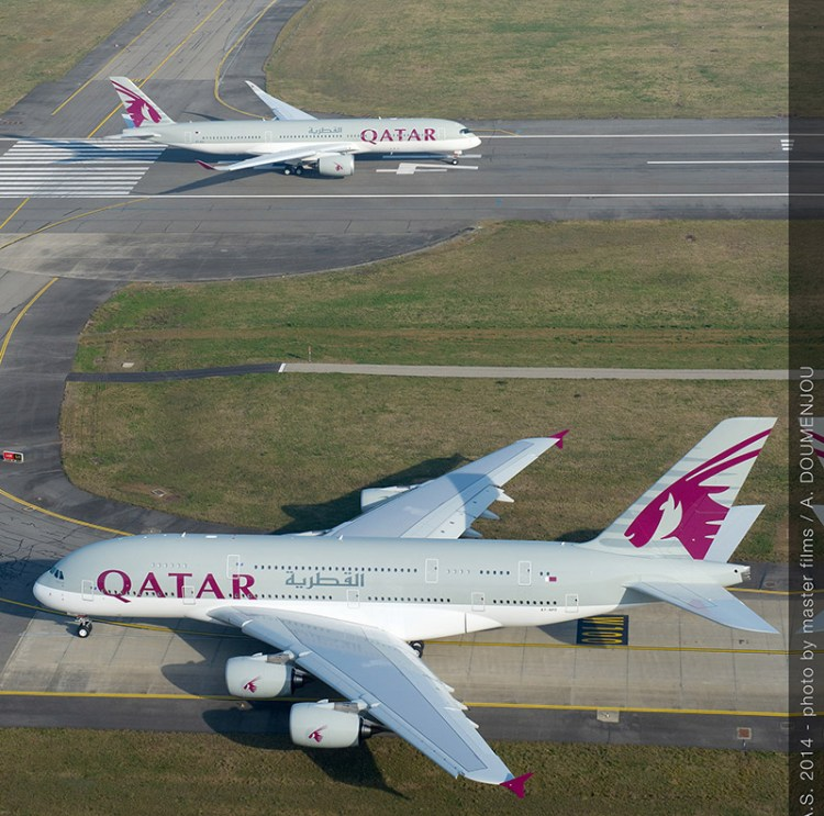 volo airbus a350 xwb e a380 qatar airways