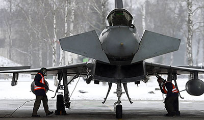 eurofighter italiani alla baltic air policing 2015