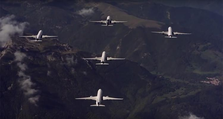 video airbus a350 xwb formation flight
