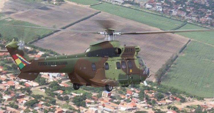 super puma fuerza aerea boliviana