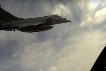 video air to air french navy rafale