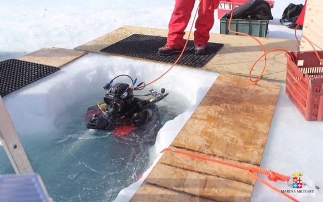 palombari del comsubin della Marina Militare in Antartide