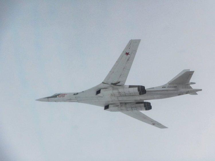typhoon inglesi intercettano i bombardieri strategici russi