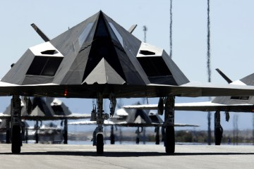 Twenty-five F-117 Nighthawks
