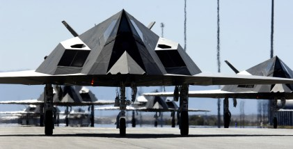 Twenty-five F-117 Nighthawks