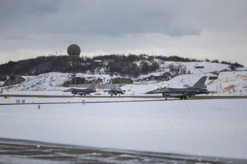 F-16 takeoff i Bodø / F-16 takeoff in Bodø