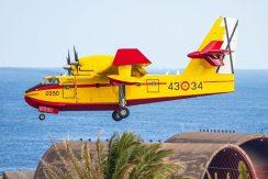 I Canadair dell'antincendio della Spagna