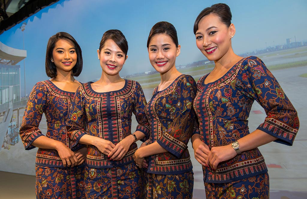Singapore airlines A350 XWB delivery ceremony cabin crew