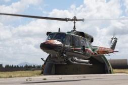 HH-212 IN DECOLLO DA GRAZZANISE CON LIVREA SPECIAL COLOR NTM 2016