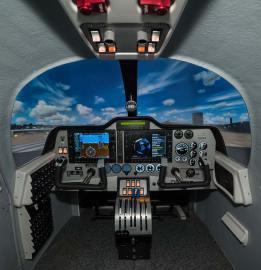European Aviation School barcellona Tecnam Simulator