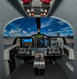 European Aviation School barcellona Tecnam Simulator