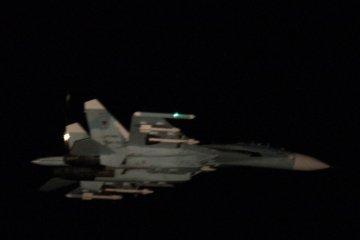 Foto di Su-27 Flanker russi sul Golfo di Finlandia
