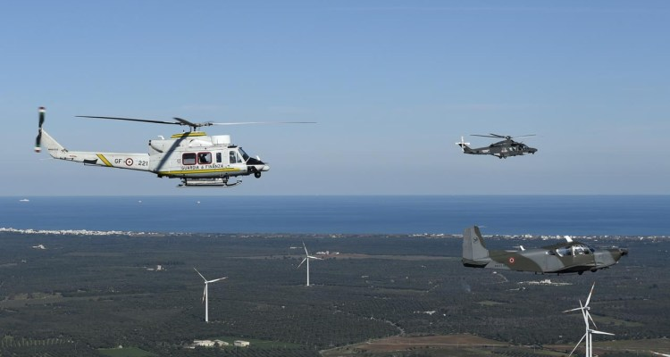 esercitazione congiunta tra aeronautica militare e guardia di finanza