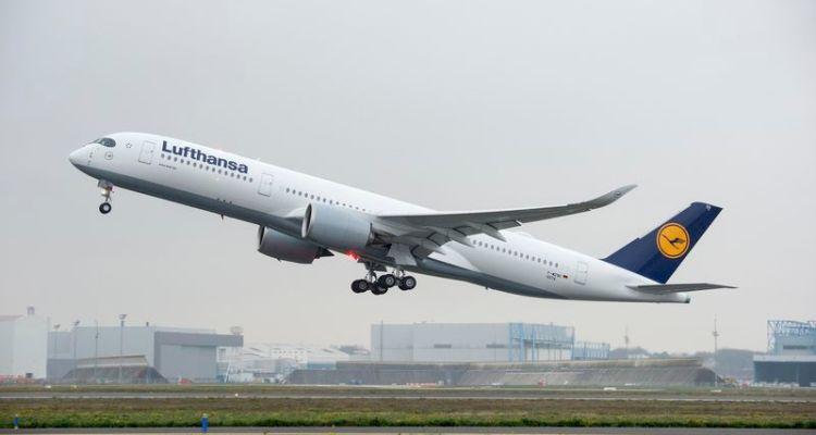 primo volo airbus A350 di Lufthansa