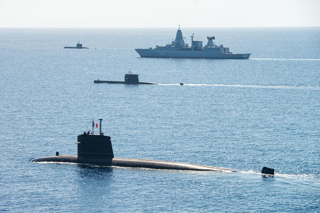Formazione navale NATO dynamic manta 2017