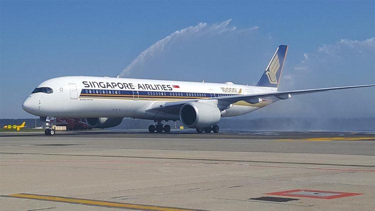 Il nuovo airbus a350 di singapore airlines arriva a milano for Singapore airlines sito italiano