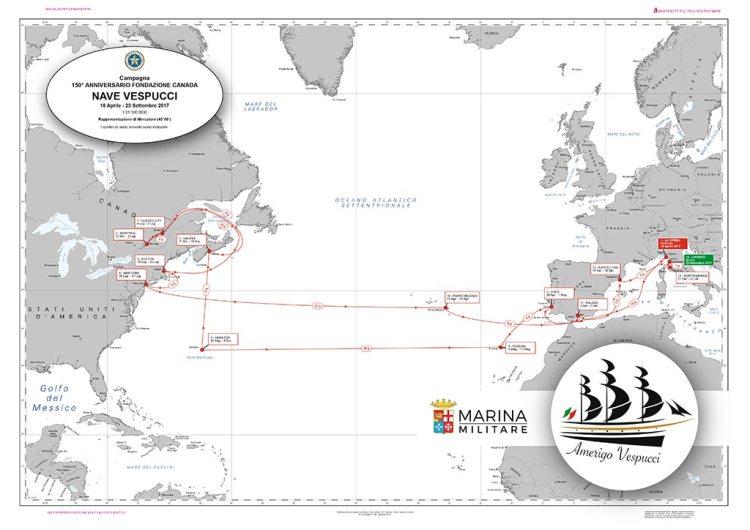 carta nautica campagna istruzione 2017 Amerigo Vespucci