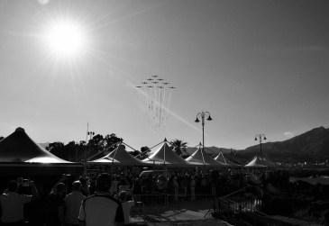 Arrivo delle Frecce Tricolori al Giardini Naxos Air Show