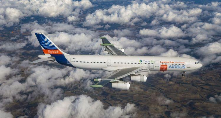 Airbus A340 laminar flow BLADE primo volo