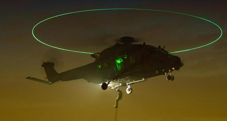 Discesa in fast rope NH-90