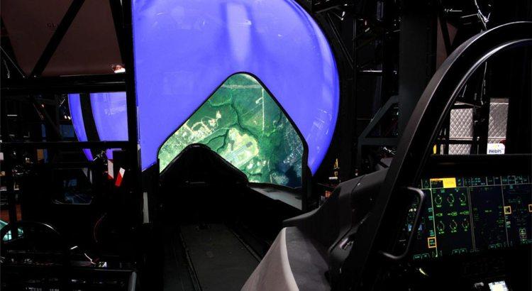 F35 Full Mission Simulator Dome con Cockpit