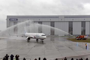 Primo volo Airbus A321LR