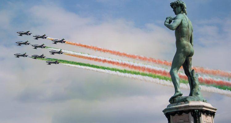 Frecce Tricolori su Firenze