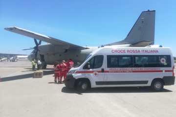 C-27J Aeronautica Militare trasporto in Bio-Contenimento