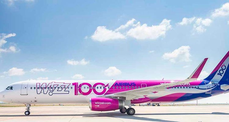 100° Airbus A321ceo WIZZAIR