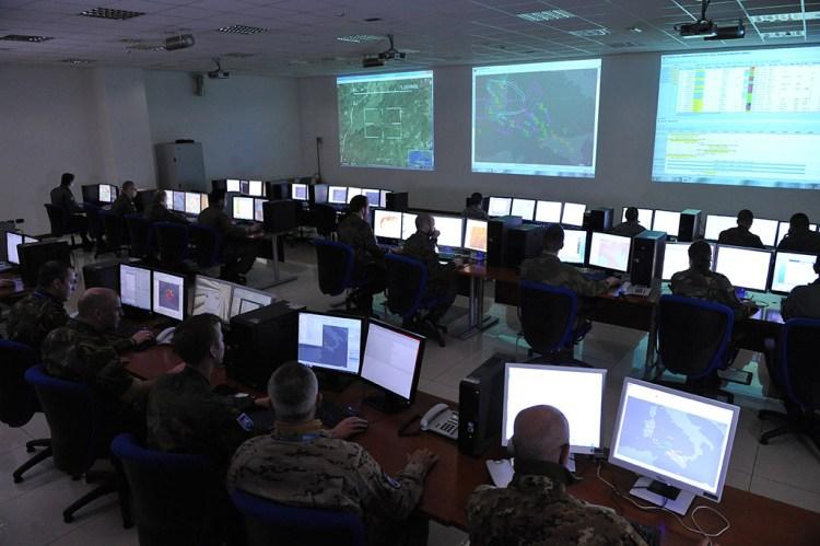 sala operativa difesa aerea italiana
