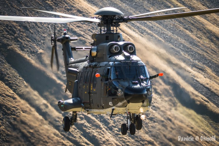 Elicottero Super Puma della Swiss Air Force