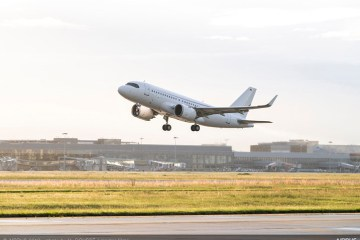 ACJ319neo take-off endurance flight