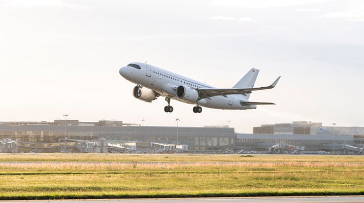 ACJ319neo take-off endurance flight