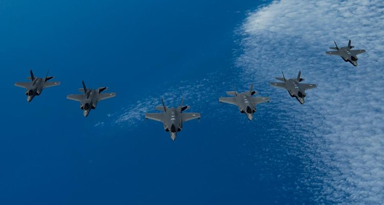 F-35 americani, inglesi e israeliani in esercitazione congiunta