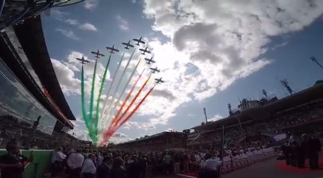 Passaggio Frecce Tricolori GP Monza 2019