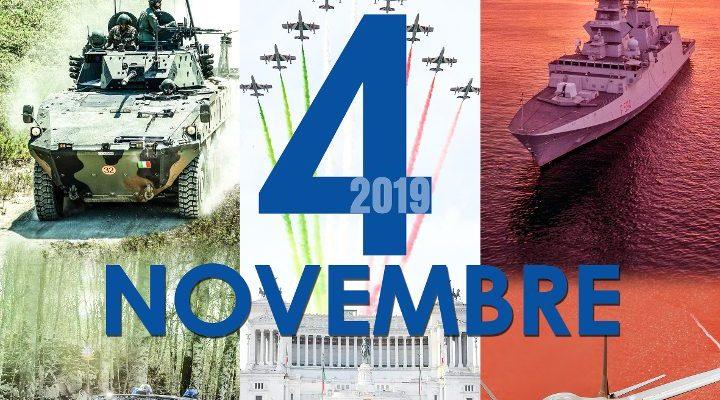 4 novembre 2019 giornata dell'unità nazionale e delle forze armate