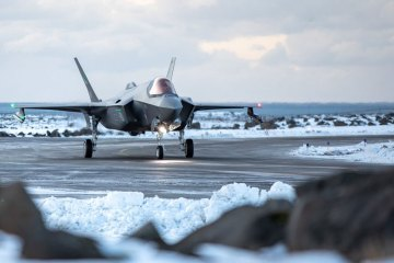 Royal Norwegian Air Force F35A in Islanda