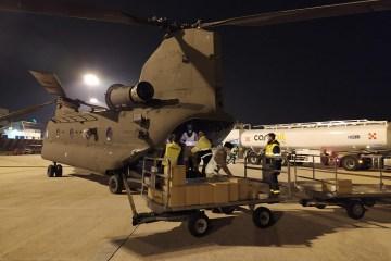 Un CH-47F del 1 Antares trasporta DPI