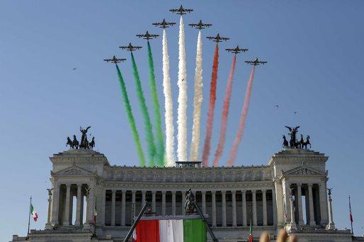 Frecce Tricolori Altare della Patria Festa della Repubblica 2020