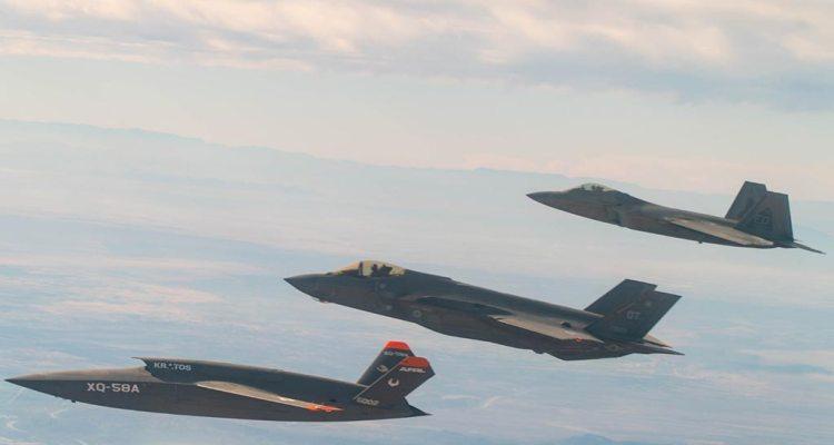 F-35, F-22, XQ-58