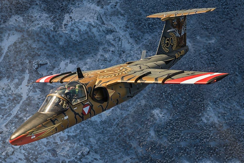 Saab 105OE austriaco special color 50 anni