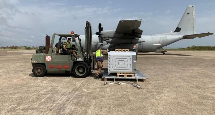 Trasporto Vaccini isole Aeronautica Militare