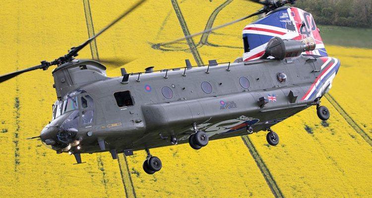 RAF CH-47 Chinook special color 40 anniversario
